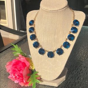 Jewelry - Gold and royal blue statement necklace